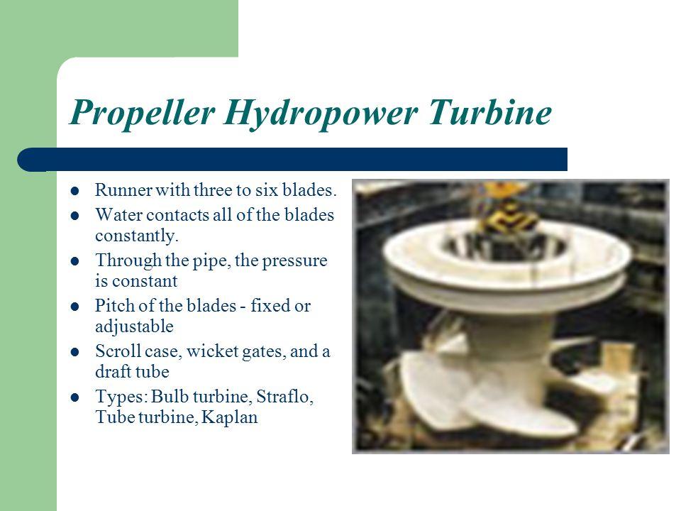 Propeller Hydropower Turbine Runner with three to six blades.
