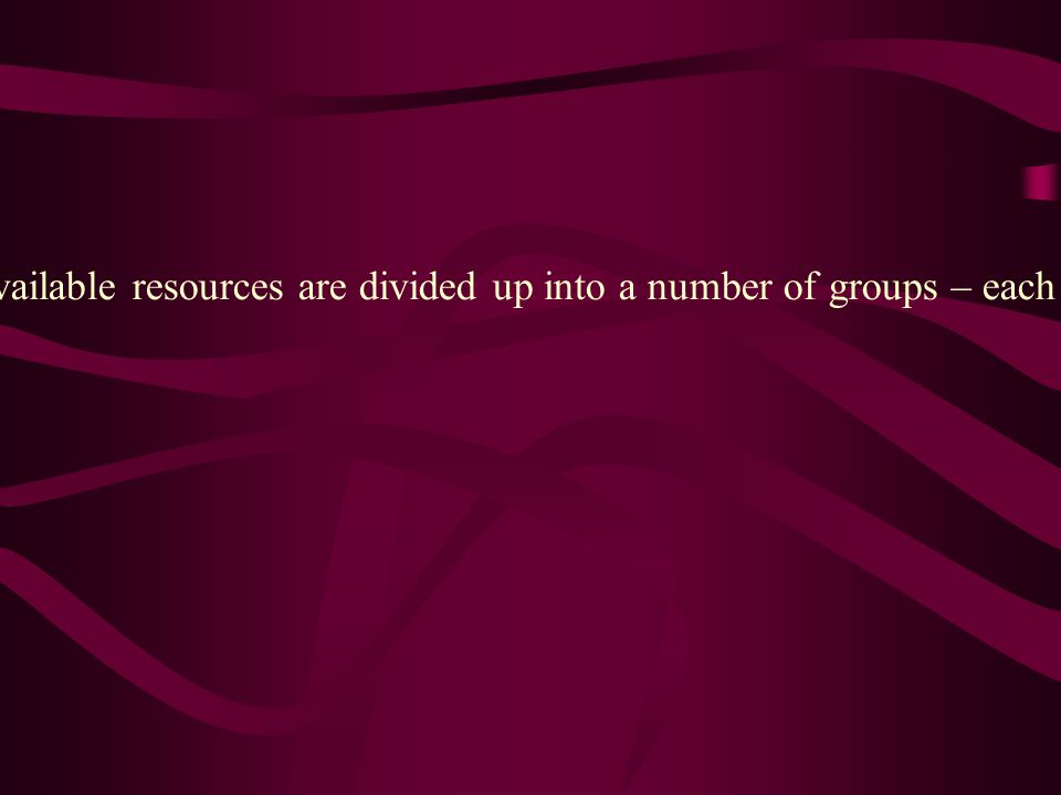 Example of paragraph 2: the available resources are divided up into a number of groups – each has a drummer, lead singer and other singers.