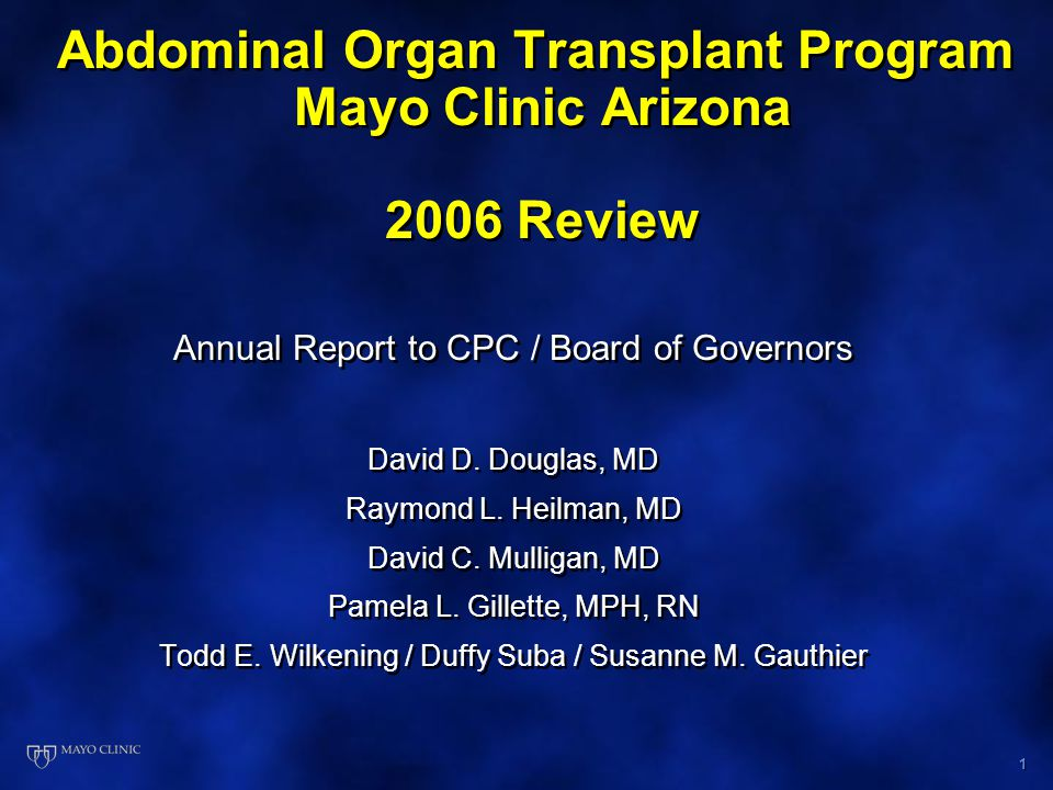 2 Presentation Outline Overview and History Academic/Research Activity Liver Transplant Program Kidney/Pancreas Transplant Program DSS Financial Analysis for 2005 Strategic Plan and Targets for 2007 Overview and History Academic/Research Activity Liver Transplant Program Kidney/Pancreas Transplant Program DSS Financial Analysis for 2005 Strategic Plan and Targets for 2007