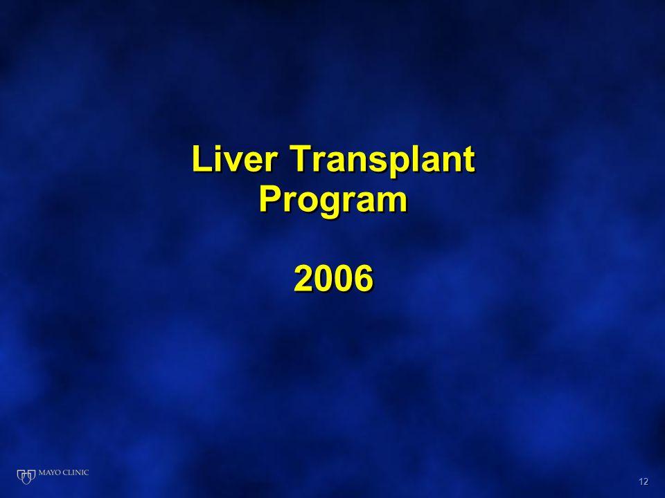 12 Liver Transplant Program 2006