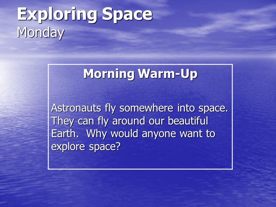 Exploring Space Amazing Words ascend descend orbit universe enormous journey launch meteorite