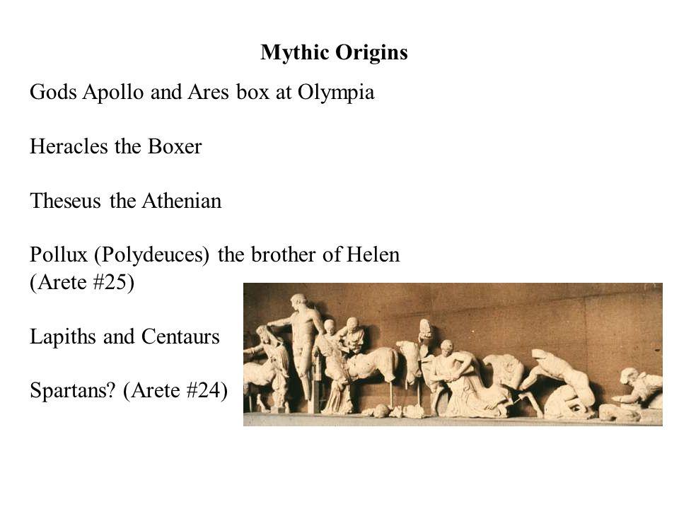COMBAT SPORTS Pale (Wrestling) 708 B.C. Pyx (Boxing) 688 B.C.