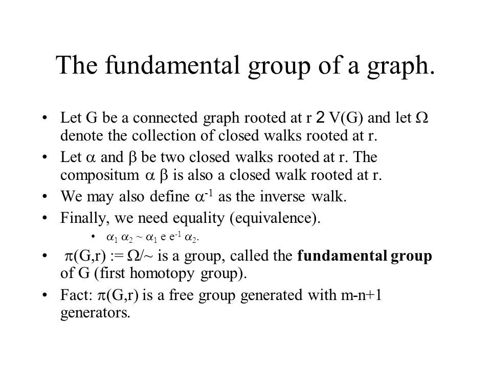 The fundamental group of a graph.