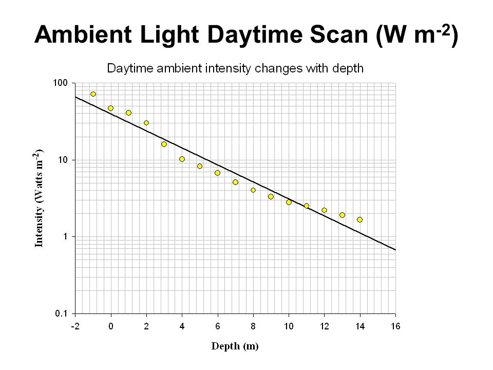 Ambient Light Daytime Scan (W m -2 )