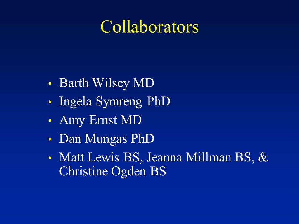 Collaborators Barth Wilsey MD Ingela Symreng PhD Amy Ernst MD Dan Mungas PhD Matt Lewis BS, Jeanna Millman BS, & Christine Ogden BS