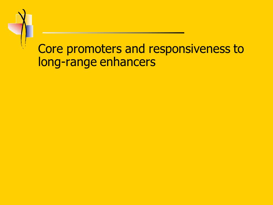 Core promoters and responsiveness to long-range enhancers