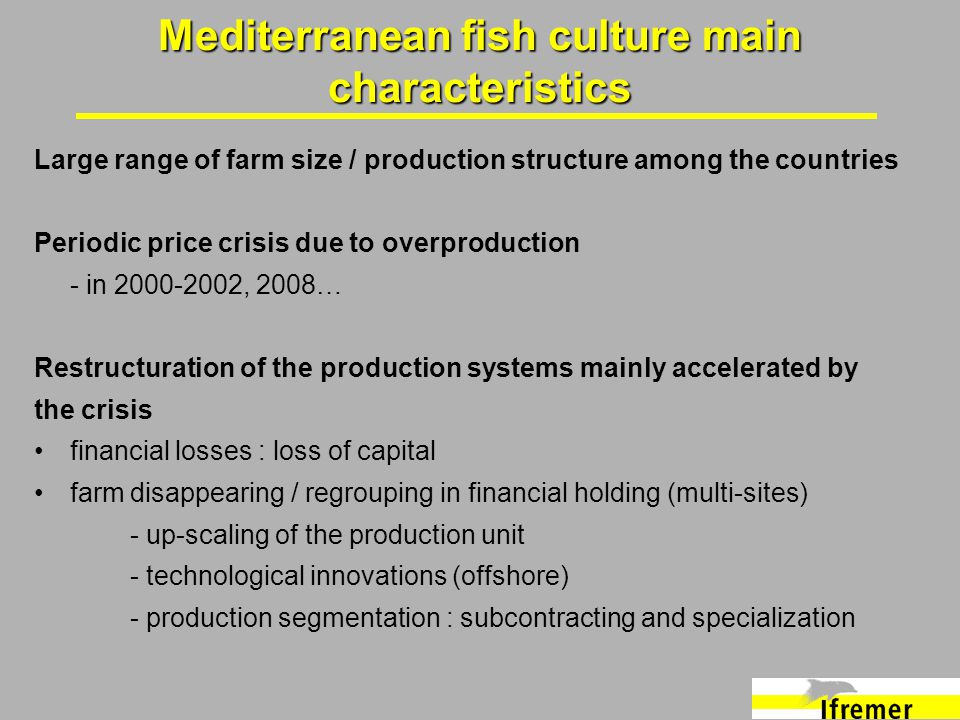 Large range of farm size / production structure among the countries Periodic price crisis due to overproduction - in 2000-2002, 2008… Restructuration