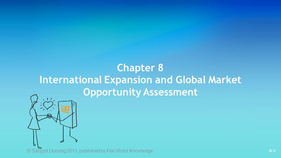 8-3 Chapter 8 International Expansion and Global Market Opportunity Assessment © Sanjyot Dunung 2011, published by Flat World Knowledge
