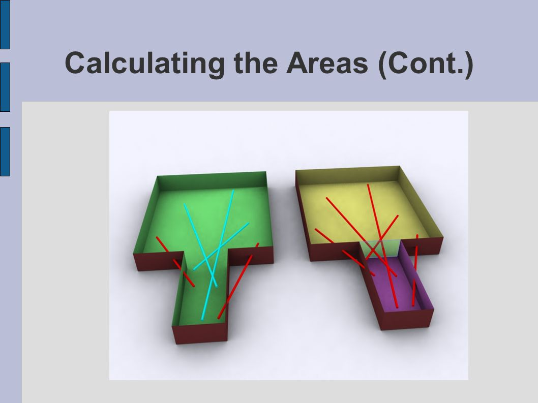 Calculating the Areas (Cont.)‏