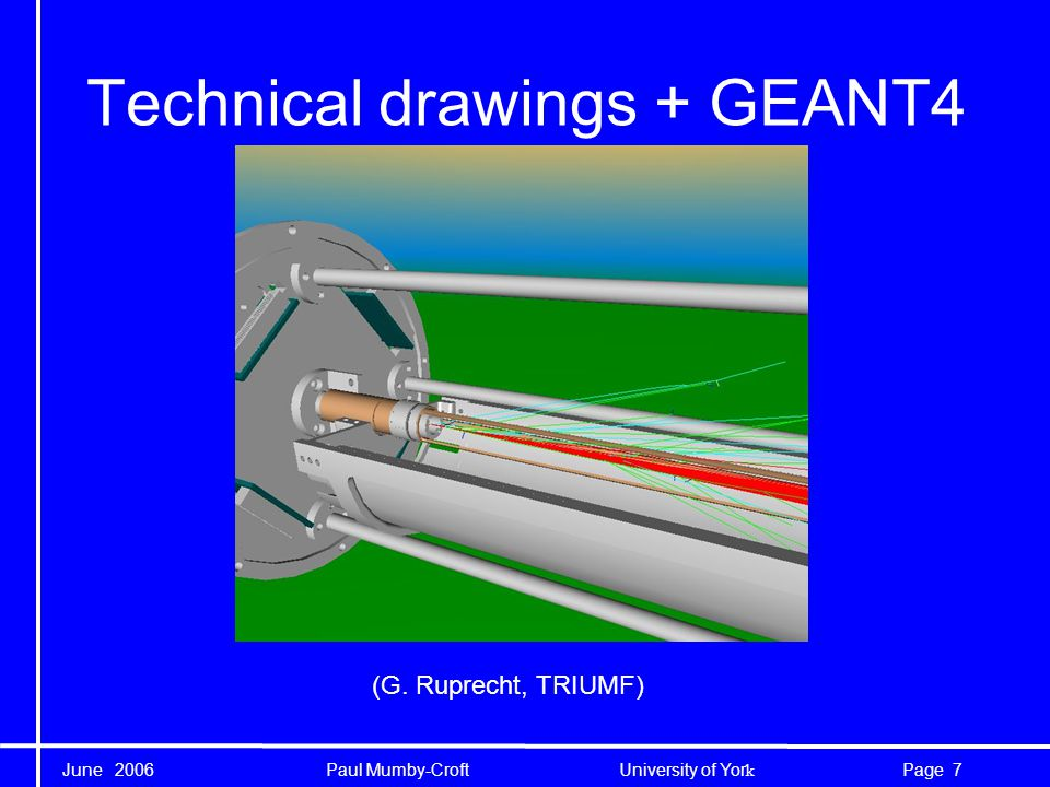 June 2006 Paul Mumby-Croft University of Yor k 7Page Technical drawings + GEANT4 (G.