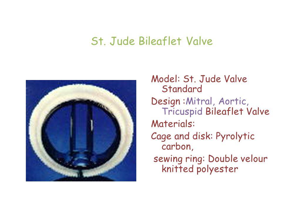 St. Jude Bileaflet Valve Model: St.