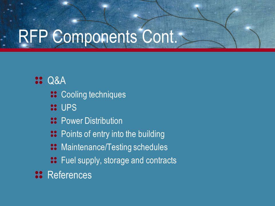 RFP Components Cont.