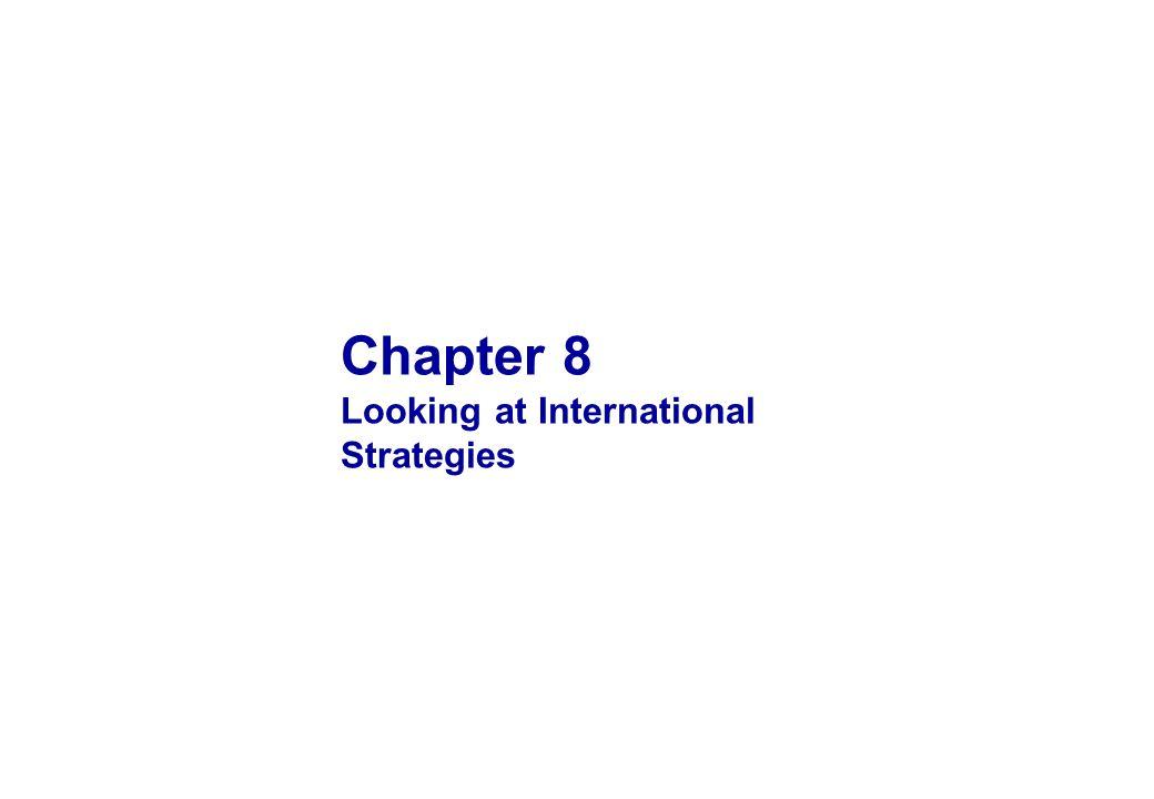 Chapter 8 Looking at International Strategies