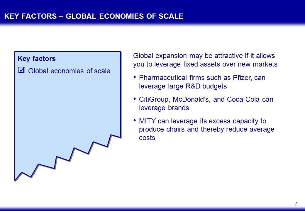 8 KEY FACTORS – LOCATION Key factors  Global economies of scale  Location Input costs Competitors Demand conditions Regulatory environment Presence of complements Choosing the right location can provide advantages in terms of A five-forces analysis can help reveal the attractiveness of a location