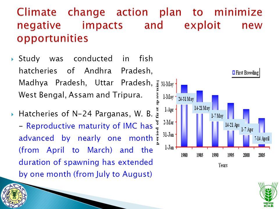  Study was conducted in fish hatcheries of Andhra Pradesh, Madhya Pradesh, Uttar Pradesh, West Bengal, Assam and Tripura.  Hatcheries of N-24 Pargan