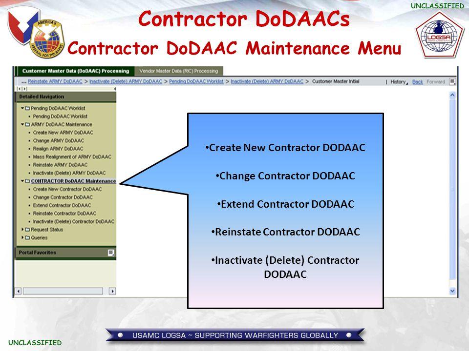 Contractor DoDAACs Questions?