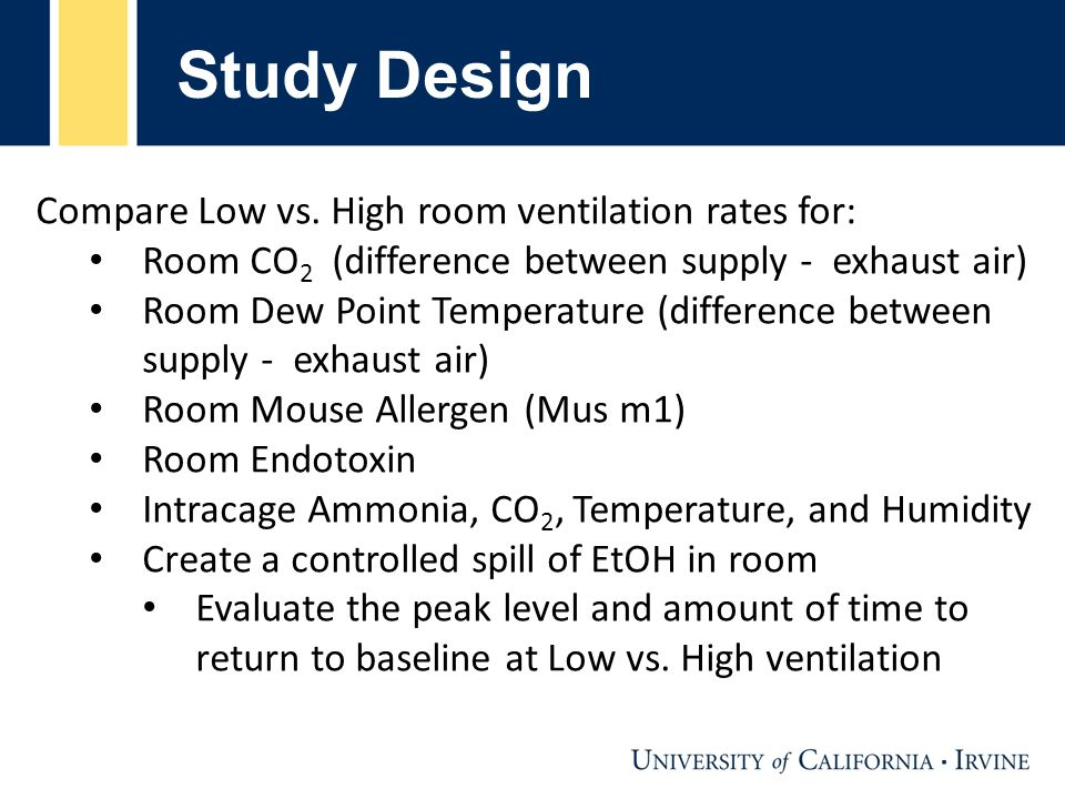 Demand-Controlled Ventilation (DCV) Computer controlled Phoenix valves in supply and room exhaust Monitoring of room air quality for temperature, dew point temperature, CO 2, dust particles, and Total Volatile Organic Chemicals (TVOC) Sample taken every 15 min.