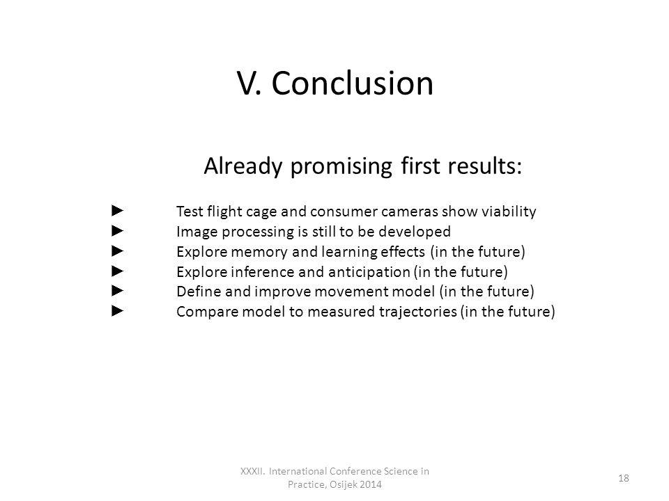 V. Conclusion XXXII.