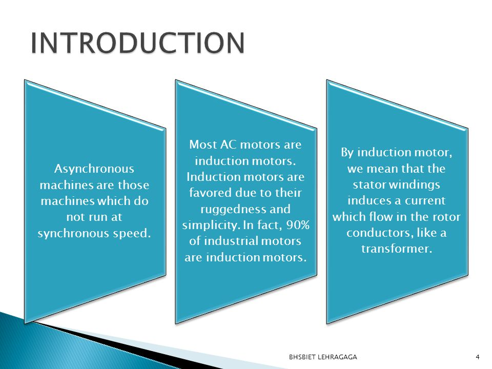5  Induction motors are used worldwide in many residential, commercial, industrial, and utility applications.