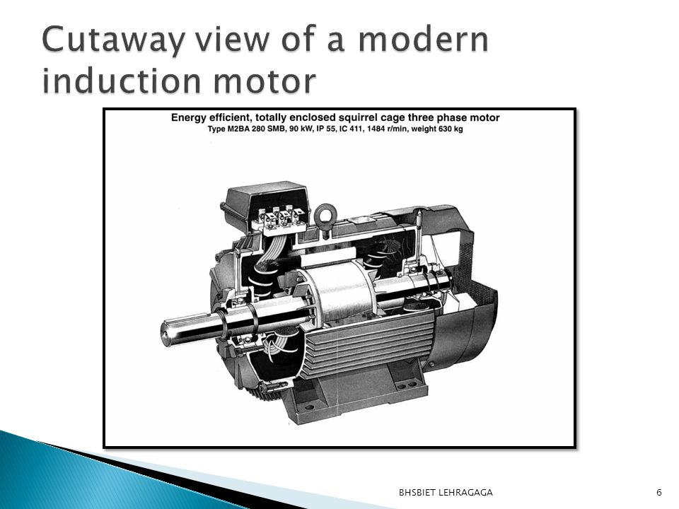  This motor is suited for starting high inertial loads.
