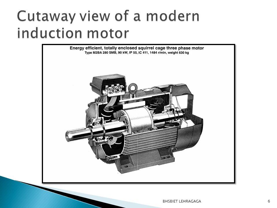 With rotary or linear motion Three phase supply or single- phase supply With wound or cage rotor 7BHSBIET LEHRAGAGA