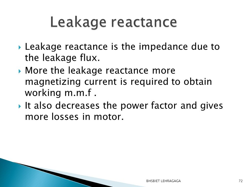  Leakage reactance is the impedance due to the leakage flux.  More the leakage reactance more magnetizing current is required to obtain working m.m.