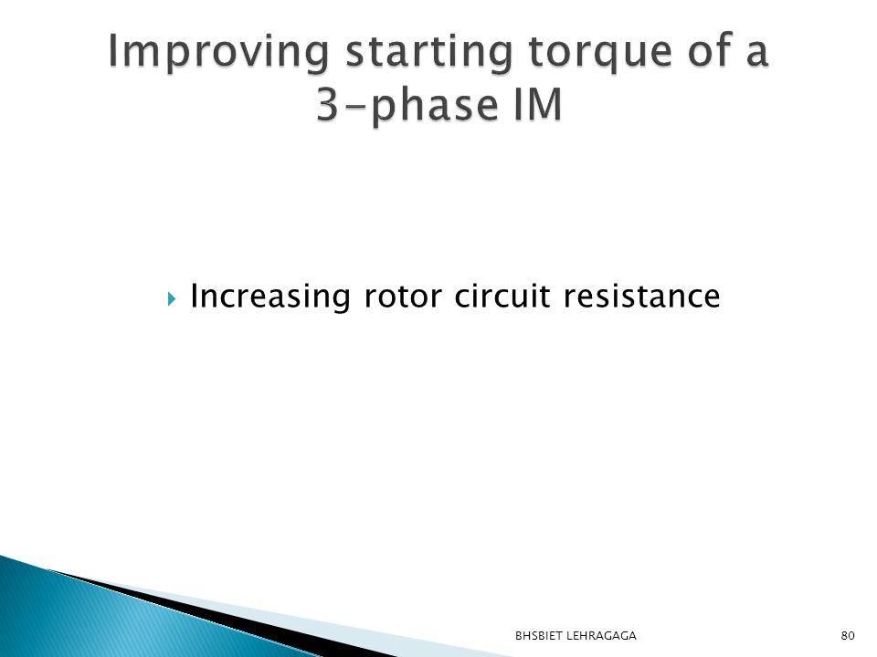  Increasing rotor circuit resistance 80BHSBIET LEHRAGAGA