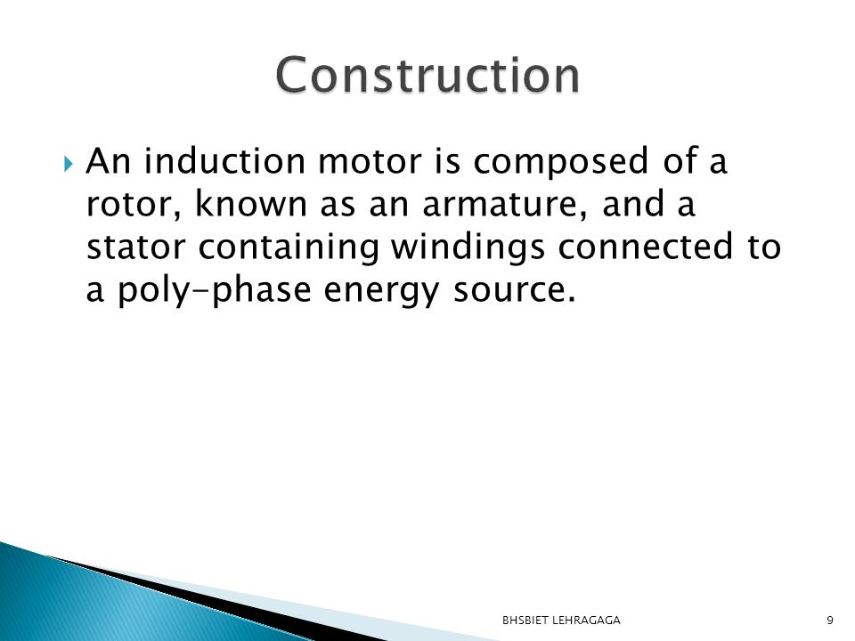  The normal full load slip of a single phase induction motor is higher than that of a three phase motor, owing to development of backward rotating field.