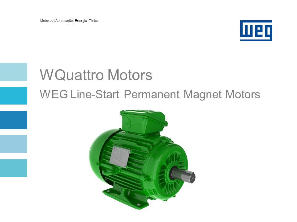 Motores   Automação   Energia   Tintas WQuattro Motors WEG Line-Start Permanent Magnet Motors