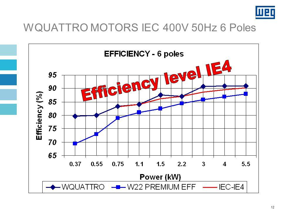 12 WQUATTRO MOTORS IEC 400V 50Hz 6 Poles