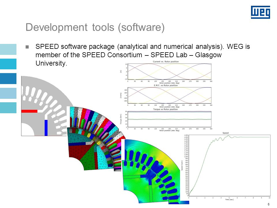 6 SPEED software package (analytical and numerical analysis).