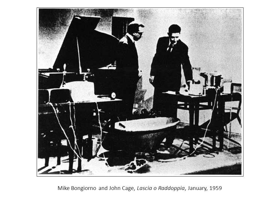 Mike Bongiorno and John Cage, Lascia o Raddoppia, January, 1959