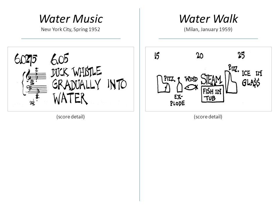 Water Music New York City, Spring 1952 Water Walk (Milan, January 1959) (score detail)