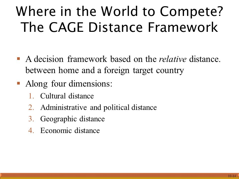 10-14  A decision framework based on the relative distance.