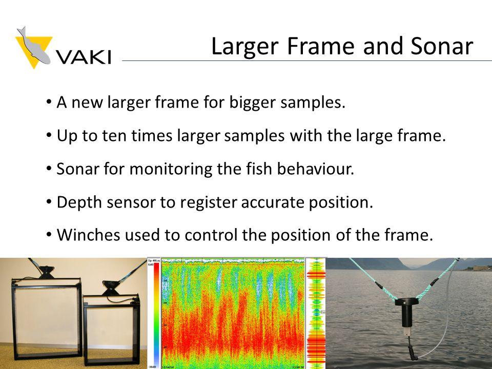 Larger Frame and Sonar A new larger frame for bigger samples.