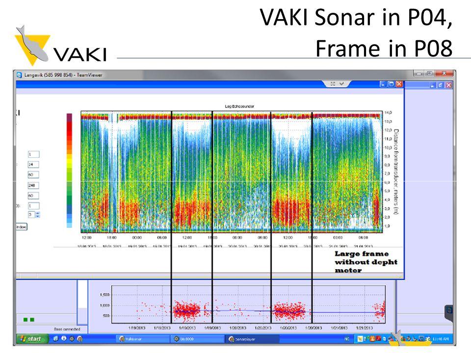 VAKI Sonar in P04, Frame in P08