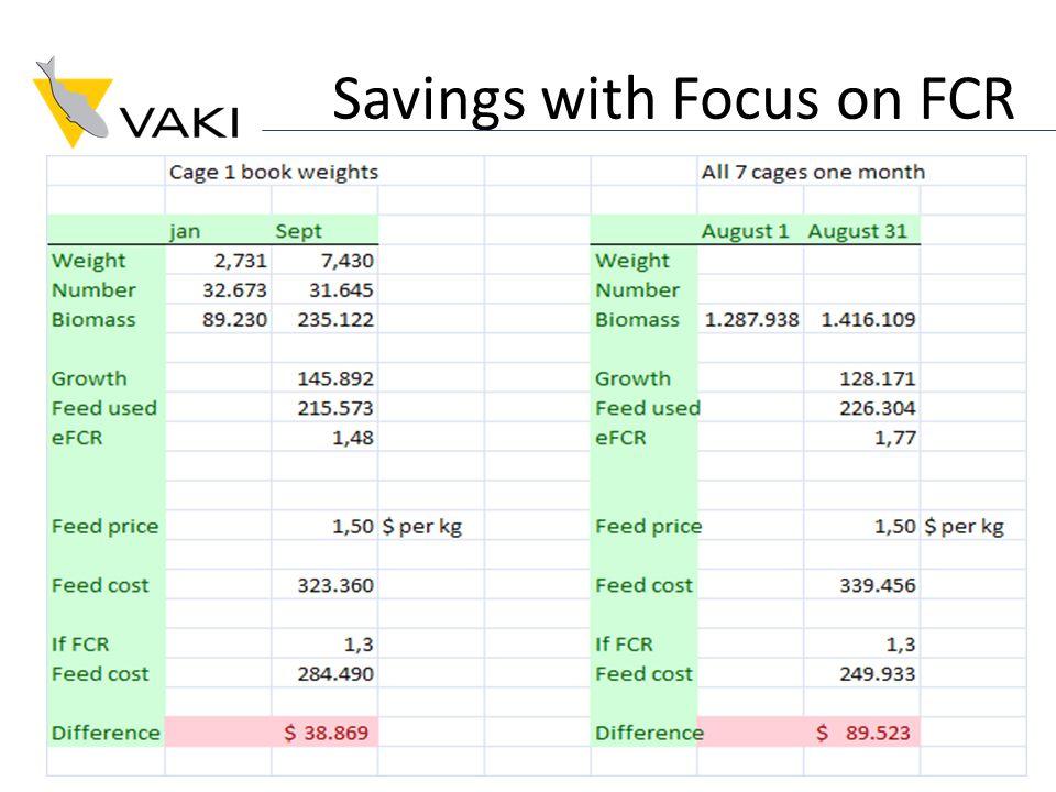 Savings with Focus on FCR