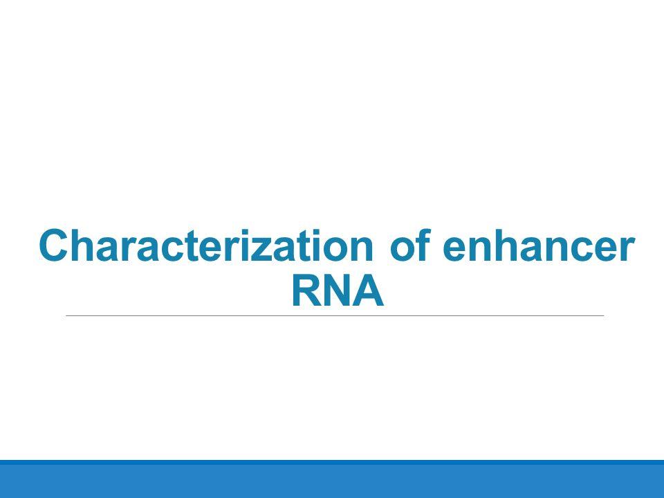 Characterization of enhancer RNA