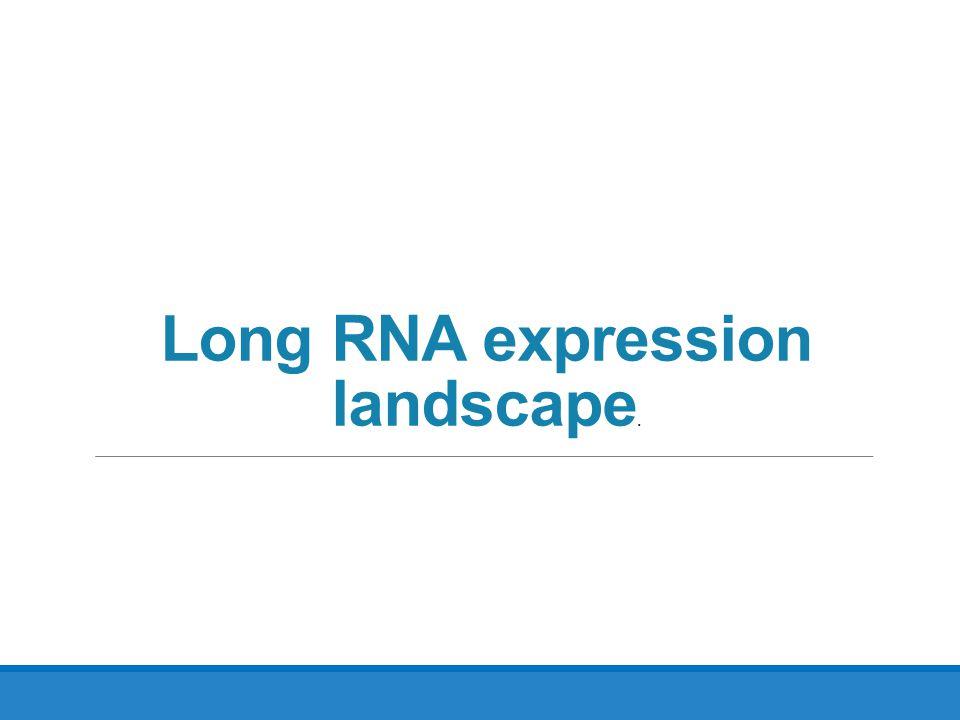 Long RNA expression landscape.