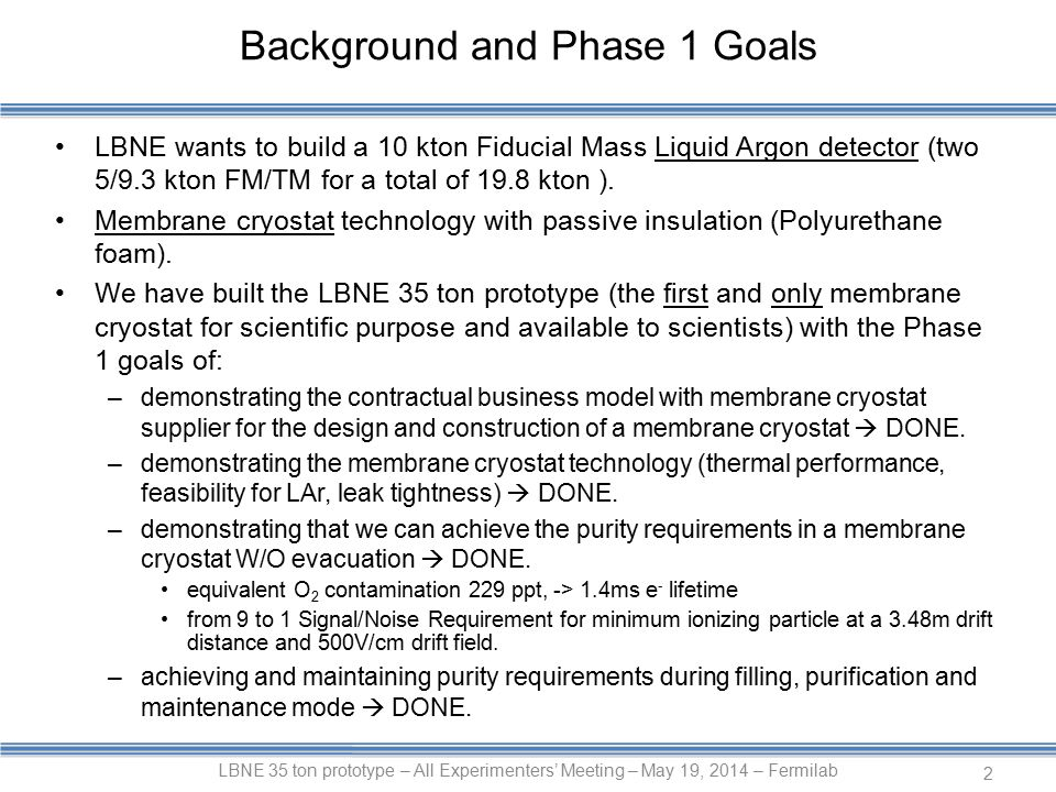 LBNE wants to build a 10 kton Fiducial Mass Liquid Argon detector (two 5/9.3 kton FM/TM for a total of 19.8 kton ).