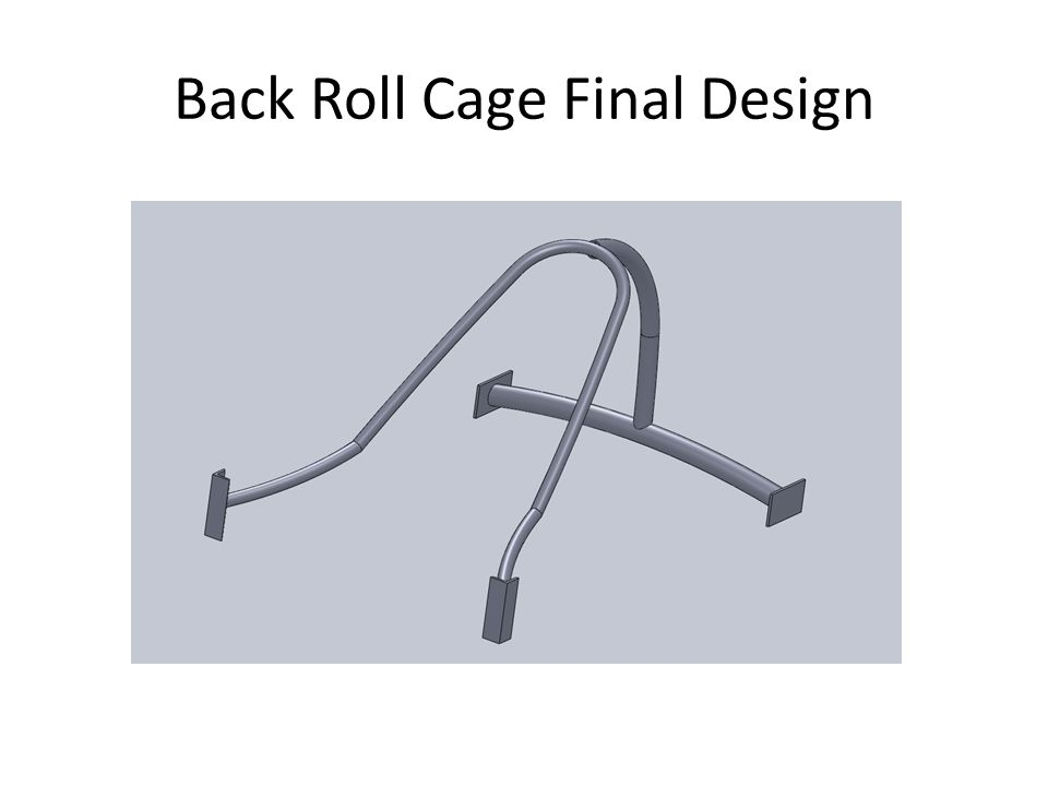 Back Roll Cage Final Design