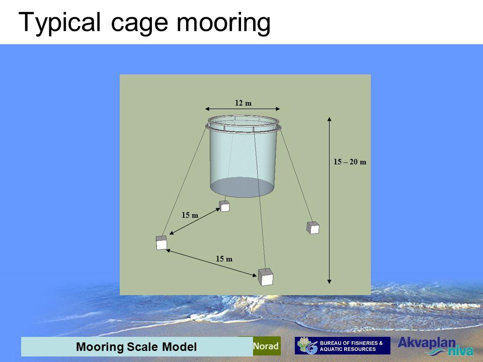 Mooring Trial Mooring Scale Model