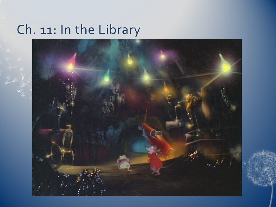 Ch. 11: In the LibraryCh. 11: In the Library