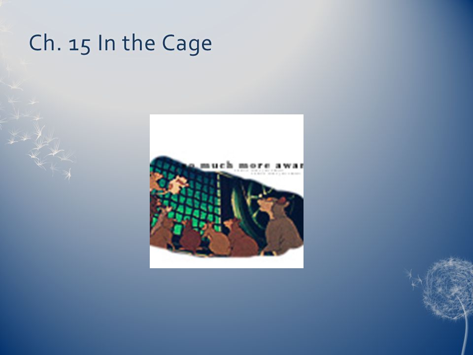 Ch. 15 In the CageCh. 15 In the Cage