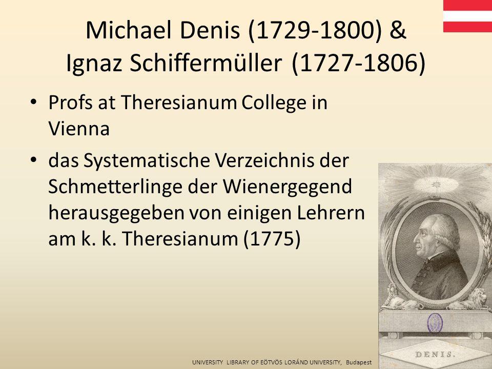 Profs at Theresianum College in Vienna das Systematische Verzeichnis der Schmetterlinge der Wienergegend herausgegeben von einigen Lehrern am k.