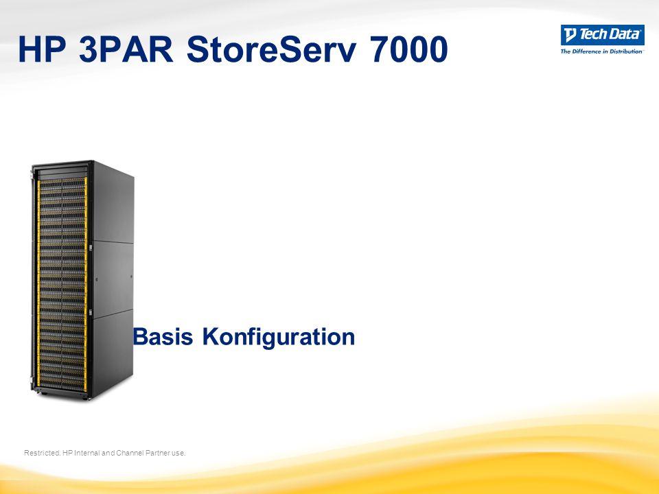 HP 3PAR StoreServ 7000 Restricted. HP Internal and Channel Partner use. Basis Konfiguration
