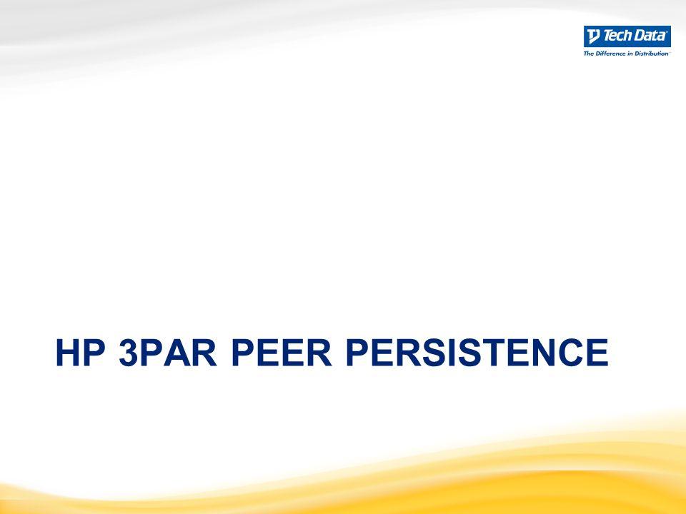HP 3PAR PEER PERSISTENCE