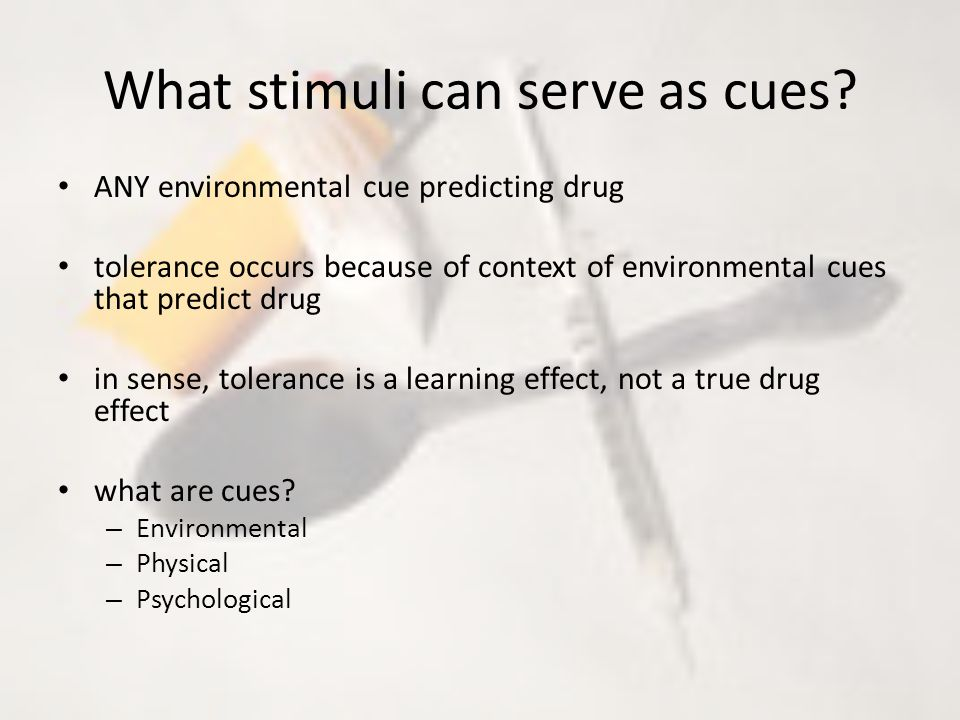 What stimuli can serve as cues.