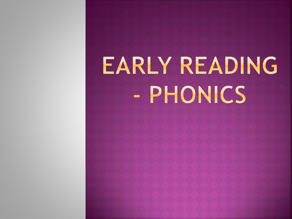 In June all Year One children will be expected to undertake a phonics check.