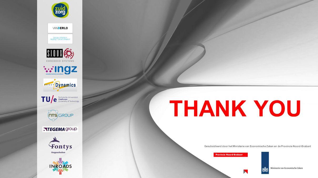 THANK YOU Gesubsidieerd door het Ministerie van Economische Zaken en de Provincie Noord-Brabant